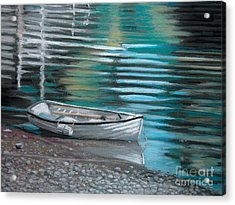 Pebbles Acrylic Print by Synnove Pettersen