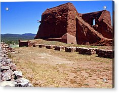 Pecos Mission New Mexico - 2 Acrylic Print by Randy Muir