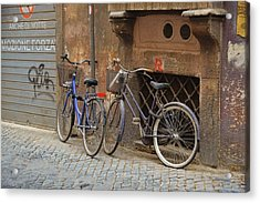 Bicycling Thru Rome Acrylic Print by JAMART Photography