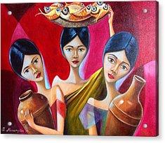 Peddle Acrylic Print by Khristina Manansala