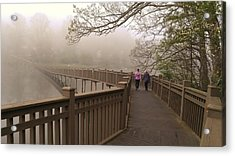 Pedestrian Bridge Early Morning Acrylic Print