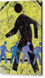 Pedestrian Crossing Acrylic Print