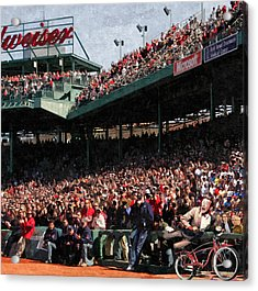 Pee Wee Does The Fenway Acrylic Print by George Curcio