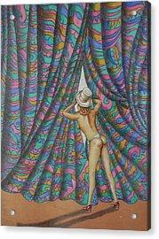 Peek A Boo Acrylic Print by Eric de Kolb