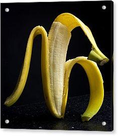 Peeled Banana. Acrylic Print by Bernard Jaubert