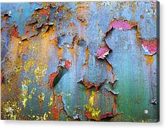 Peeling Paint And Rust Textures 135 Acrylic Print