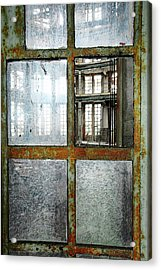 Acrylic Print featuring the photograph Peeping Inside Factory Hall - Urban Decay by Dirk Ercken