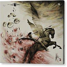 Pegasus Acrylic Print by Alan Kirkland-Roath