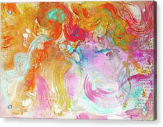 Acrylic Print featuring the painting Pegasus by Eva Konya