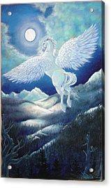 Pegasus Acrylic Print by Heather Calderon
