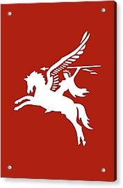 Pegasus In War Acrylic Print by Kristin Elmquist