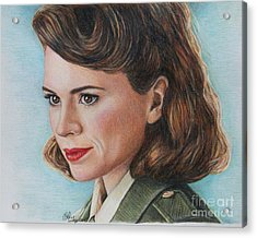 Peggy Carter / Hayley Atwell Acrylic Print
