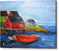 Acrylic Print featuring the painting Peggy by Sibby S