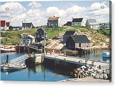 Peggy's Cove Acrylic Print by Andrea Simon