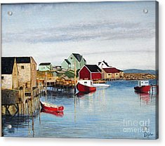 Peggy's Cove Acrylic Print by Donald Hofer