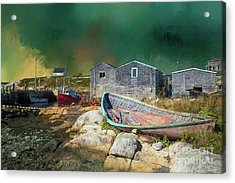 Acrylic Print featuring the photograph Peggy's Cove by Eva Lechner