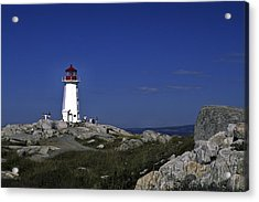 Peggy's Cove Lighthouse Acrylic Print by Sally Weigand