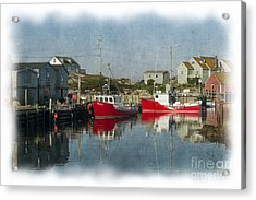 Acrylic Print featuring the photograph Peggys Cove Marina by Dan Friend