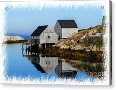 Peggys Cove Marina With Fishing Houses  Acrylic Print