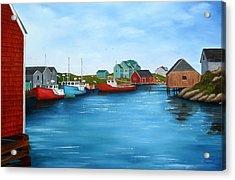 Peggys Cove Nova Scotia Acrylic Print by Sharon Steinhaus