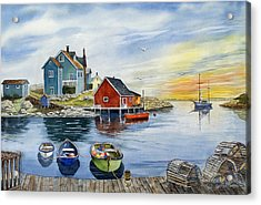 Peggys Cove  Acrylic Print by Raymond Edmonds