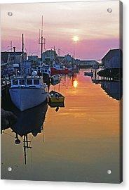 Peggy's Cove Sunset, Nova Scotia, Canada Acrylic Print
