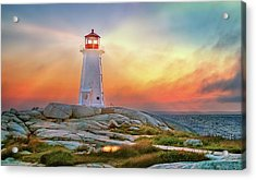 Peggy's Cove Sunset Acrylic Print