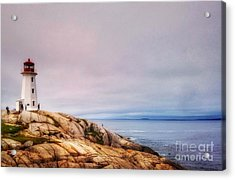 Peggys Point Lighthouse Acrylic Print