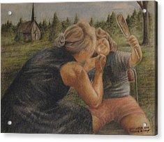Peinture De Visage Acrylic Print