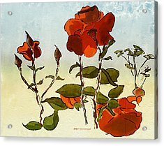 Peka Peka Roses Acrylic Print