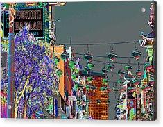 Peking Bazaar Acrylic Print