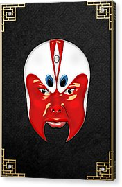 Peking Opera Masks - Wen Zhong Acrylic Print