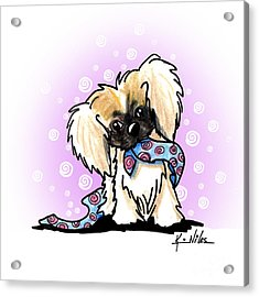 Pekingese Puppy Acrylic Print by Kim Niles