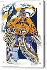Pekka Rinne Nashville Predators Acrylic Print by Joe Hamilton