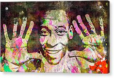 Acrylic Print featuring the mixed media Pele by Svelby Art
