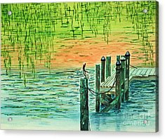 Pelican Perch Acrylic Print
