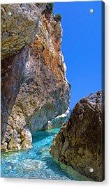 Pelion Rocks Acrylic Print by Neil Buchan-Grant