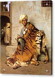 Pelt Merchant Of Cairo - 1869 Acrylic Print by Jean-Leon Gerome