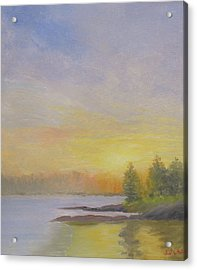 Pemaquid Beach Sunset Acrylic Print