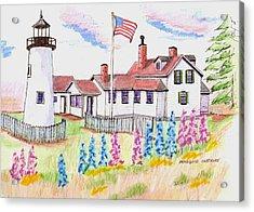 Pemaquid Lighthouse Acrylic Print by Paul Meinerth
