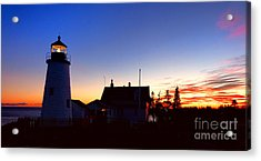 Pemaquid Point Evening Acrylic Print by Olivier Le Queinec