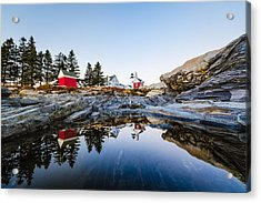 Pemaquid Point Light Reflection Acrylic Print by Robert Clifford