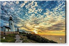 Pemaquid Point Lighthouse At Daybreak Acrylic Print