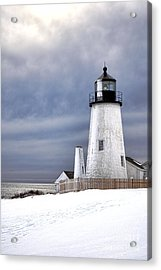 Pemaquid Point Lighthouse In Winter Acrylic Print