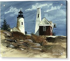Pemaquid Point Lighthouse  Acrylic Print by Nancy Patterson