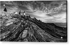 Pemaquid Point Mono Acrylic Print by Darren White