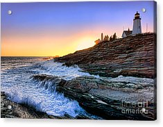 Pemaquid Point Sunset Acrylic Print by Olivier Le Queinec