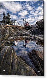 Acrylic Print featuring the photograph Pemaquid Reflected by Jaki Miller