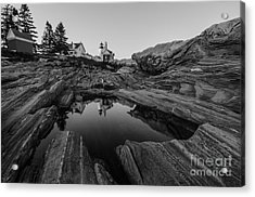 Pemaquid Reflecting Acrylic Print by Paul Noble