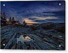 Pemaquid Reflections Acrylic Print by Rick Berk